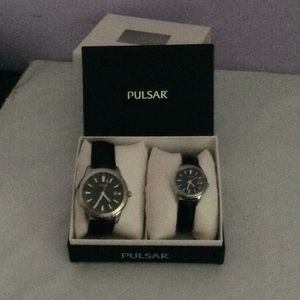 Pulsar His & Hers Match Watches - Leather Band